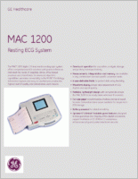 GE MAC 1200 Interpretive Resting EKG 2014042-001 brochure