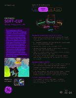 GE Critikon Soft-Cuf SFT-A3-2A Blood Pressure Large Adult Cuff 31-40 cm. SFT-A3-2A brochure