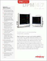Mindray DPM6 Patient Monitor  brochure