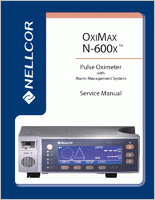 Nellcor OxiMax N-600X Tabletop Pulse Oximeter  Service Manual