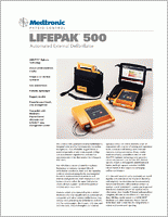 Physio Control Lifepak 500 Bi-Phasic AED  brochure