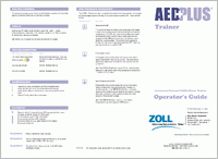 Zoll AED Plus Training Unit with Remote  Reference Guide