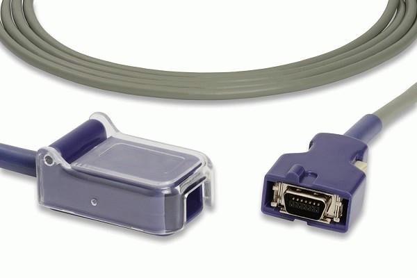 Compatible Covidien Nellcor DOC-10 OxiMax SpO2 Adapter Cable