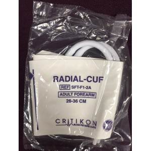 Critikon Soft-Cuf SFT-F1-2A Blood Pressure Radial Cuff 26-36 cm. New